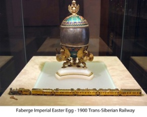 Imperial Faberge Egg - Trans Siberian Railway